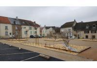 Place de l'église à Troissy - Travaux en cours
