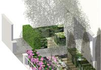 Jardin chevrons