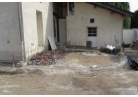 Fondations de la terrasse à double niveau